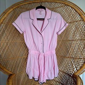 NWOT Victoria's Secret Pink Pajama Romper